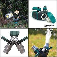 Toch Garden Hose Splitter 2 Way Y Valve Garden Hose Shut Off Valve 2wayz Garden Metal Body Y Ball Valve Hose Splitter With 10 Rubber
