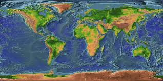 Map Of The Earth Topographic Map Of The Earth