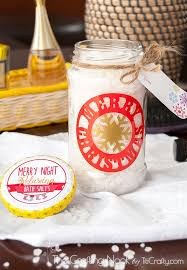 diy decorative vinyl christmas gift jar the crafting nook by