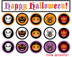 happy halloween cute images thing 1 cupcake toppers free printable google search halloween