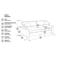 Sofa Seat Depth by Serta Rta Astoria Collection 78 In Sofa Camilla Taupe Ebay