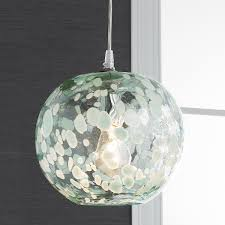Crackle Glass Pendant Light L Speckled Blown Glass Pendant Blown Glass Glass Pendants
