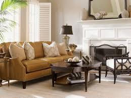 kensington place ashton leather sofa lexington home brands