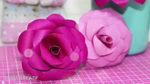 cara membuat bunga dari kertas pita jepang cara membuat bunga mawar dengan kertas dunia kreatif youtube