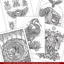 sacred animals coloring books by lydia hess u2013 coloring worldwide