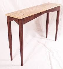 Walnut Sofa Table by Hall Console Sofa Table Ambrosia Maple Walnut Hand Made In Usa By