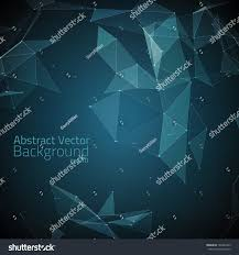 Futuristic Style Abstract Vector Mesh Background Futuristic Style Stock Vector