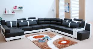 modern black and white leather sectional sofa sofa beds design fascinating traditional black and white sectional