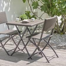 teck grade a table de jardin metal marron jsscene com des idées