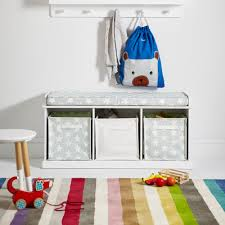 toy storage benches abbeville storage bench white with grey star cushion abbeville