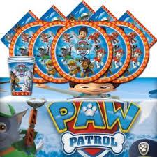 paw patrol kids table set paw patrol pet rescue birthday party tableware 16 pack complete kid