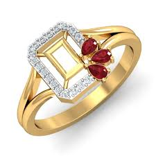 pave mens ring diamond and ruby 3d printable ruby rings designs online for women in india damor in