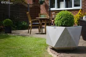 large origami concrete planters 1001 gardens