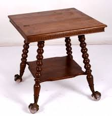 claw foot table with glass balls in the claw antique oak glass ball in claw feet parlor table