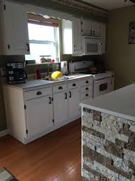 Kitchen Island Panels Decorating Installation Of Lowes Airstone For Kitchen Island