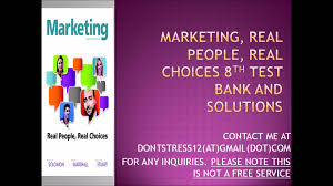 marketing real people real choices 8th test bank and solution