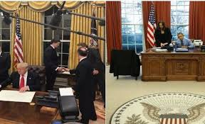 Trump Oval Office Decoration Trump Immediately Changes Oval Office Decor Starting With The Drapes