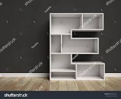 Letter Shelf Letter E Shaped Shelves 3d Rendering Stock Illustration 445523641