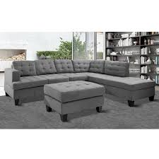 Modern Leather Sectional Couch 2 Piece Modern Contemporary White Faux Leather Sectional Sofa