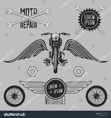 vintage motorcycle logos emblems templates labels stock vector