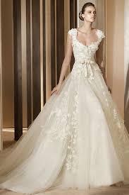 caps sweetheart lace appliques princess ivory a line wedding dress