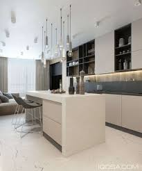 quel budget pour une cuisine une grande cuisine ouverte sur le salon luxe déco gris beige