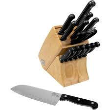 chicago cutlery belden 15 knife set with block walmart com