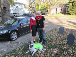 Popeye Olive Halloween Costume Coolest Popeye Olive Oyl Couple Costume Spinach