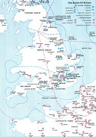 A Map Of England by Asisbiz Artwork Showing A Map Of Battle Of Britain Airfields Of