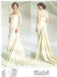 vogue wedding dress patterns vogue 2906 bridal original bellville sassoon pattern size 12 16