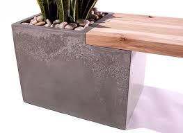 Planter Bench Seat Concrete Wood Planter Bench By Taoconcrete On Etsy 1000 00 A