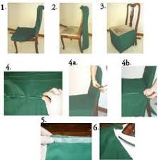 How To Make Seat Cushions For Dining Room Chairs Diy How To Make A Chair Cover Slip Cover Tutori Sewing
