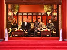 china lavishes red carpet treatment on trump as he arrives for
