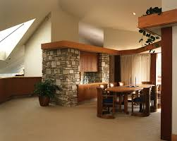 frank lloyd wright bungalow dining room modern with contemporary