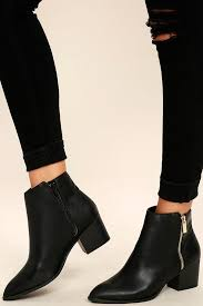 click to buy selling pointed toe boot black booties ankle booties pointed toe booties 39 00