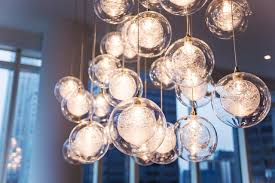 Glass Chandeliers For Dining Room Kadur Custom Blown Glass Chandelier Manhattan Loft Apartment