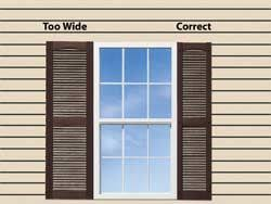 Decorative Windows For Houses Exterior Window Shutters Shutter Height In Most Cases The Height