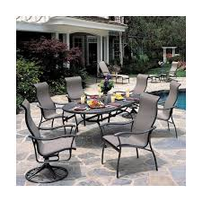 Resort Style Patio Furniture Seabreeze Sling Dining Patio Furniture By Tropitone