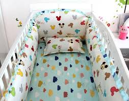 Mickey Mouse Baby Bedding Promotion 6pcs Mickey Mouse Baby Crib Bedding Set For Boy