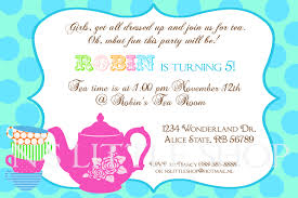 tea party invitation wording template best template collection