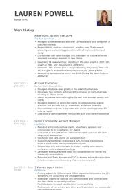 executive resumes advertising account executive resume templates franklinfire co