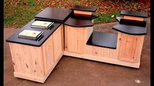 big green egg mobile kitchens big green egg concrete counter tops