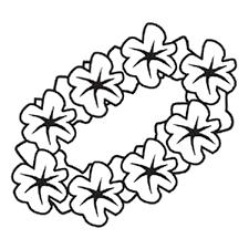 hawaiian flower emoji coloring coloring pages flowers leaves