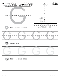 capital letter g lotty learns abc printables uppercase