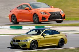 lexus turbo coupe video top gear compares the bmw m4 vs lexus rc f