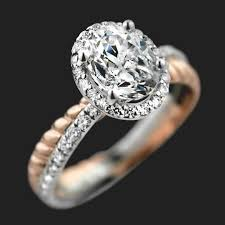 two engagement ring terwilliger two tone engagement ring miadonna