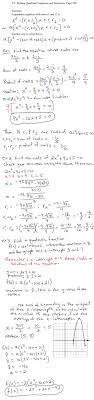 writing quadratic equations and functions