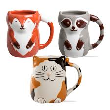 forest friends ceramic mugs teton timberline trading