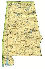 Northeast Map Usa by Reference Map Of Alabama Usa Nations Online Project Maps Of