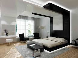 black and white bedroom with interesting single bed on nice carpet